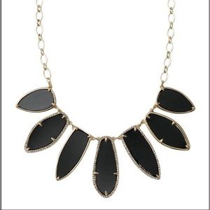 Stella & Dot Black Allegra Statement Necklace